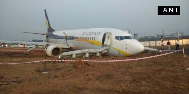 Jet Airways Flight With 161 On Board Skids Off Runway At Goa's Dabolim