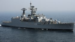 Warship INS Betwa That Tipped Over In Mumbai Yard Floats