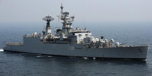 File photo of India Navy's battleship INS