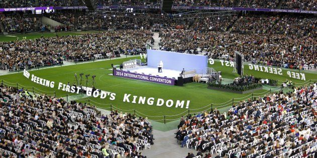 The International Convention of Jehovahs Witnesses being held at Etihad Stadium in Melbourne on 17 October,