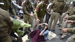 Watch How Policemen At Ramjas Punched And Pushed Women