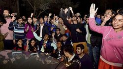High Drama At JNU As Protesting Students Compare Authorities To
