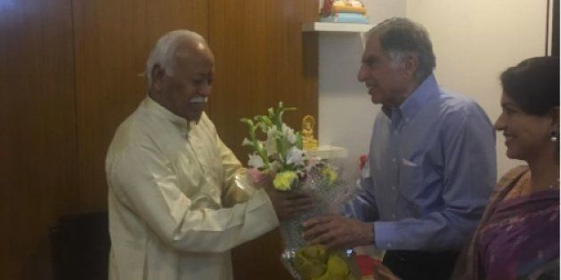 Ratan Tata Makes Surprise Visit To Nagpur, Meets RSS Chief Mohan