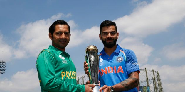 Britain Cricket - India & Pakistan Nets - The Oval - June 17, 2017 Pakistan's Sarfraz Ahmed and India's...