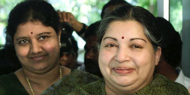J Jayalalitha (right) with Sasikala