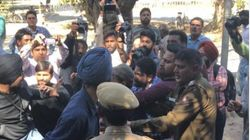 Days After Violence At Ramjas College, ABVP And SFS Activists Clash At Panjab