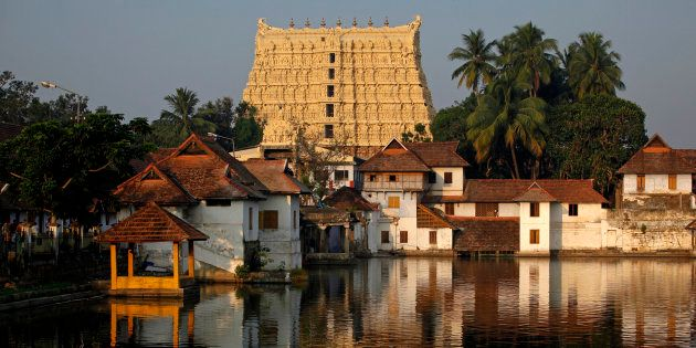 A view of Sree Padmanabhaswamy temple in Thiruvananthapuram, capital of the southern Indian state of...