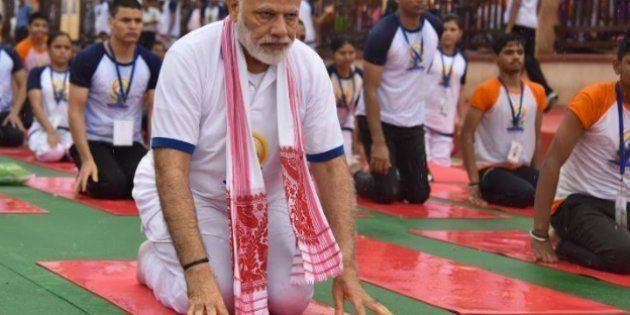 Narendra Modi Performs Yoga In Rain, Says The Practice Has Played A Big Role In Binding The