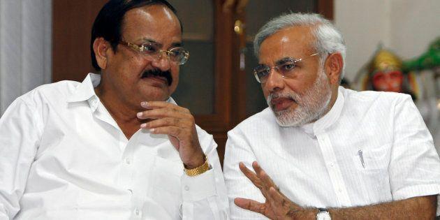 Venkaiah Naidu (L) with Narendra