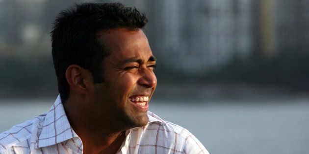 Tennis player Leander Paes poses for a profile shoot at Nariman Point. (Photo by Vikas Khot/Hindustan...