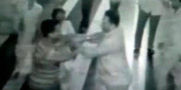 BJP MP Ananth Kumar Hegde Caught On Camera Thrashing Three