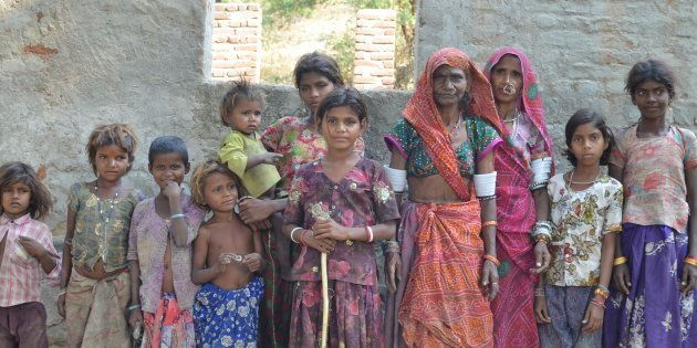 Group of Tribal Women in Ranakpur,
