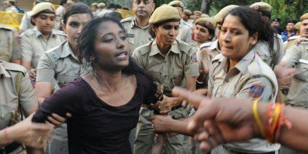 Police drag Dipsita Dhar