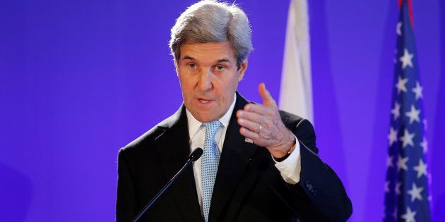 U.S. Secretary of State John Kerry attends a news conference in