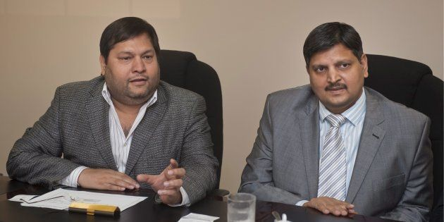 Ajay Gupta and younger brother Atul Gupta. Johannesburg, March 2,