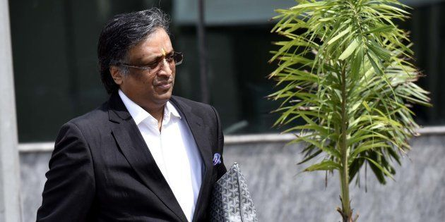 Lawyer Gautam Khaitan, an accused in the AgustaWestland case, outside the CBI office on May 6, 2016 in...