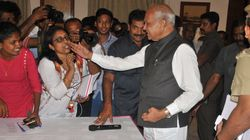 At Press Conference On Sexual Harassment, TN Governor Harasses Woman