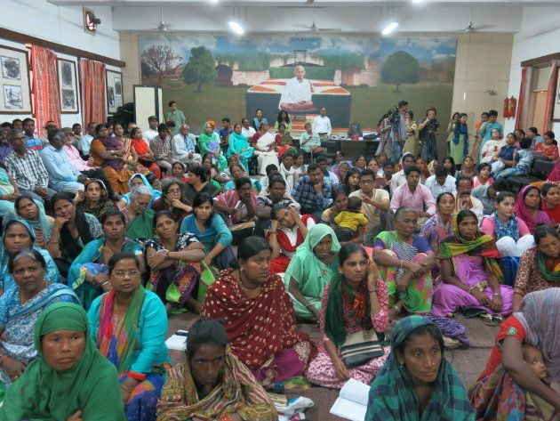 A public hearing in New Delhi organized by the Right to Food campaign, where people from around India...