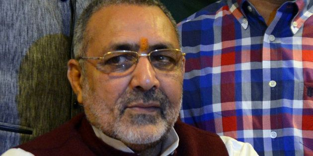 Giriraj Singh Ask Hindus To Visit Temples Instead Of Cutting Cake On