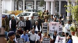 TMC MPs Detained During Their Protest Outside The