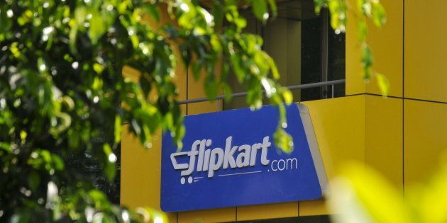 The logo of India's largest online marketplace Flipkart is seen on a building in Bengaluru,