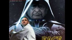 Mulayam Darth Vader And Akhilesh Luke Skywalker Duke It Out In Open Magazine's Latest