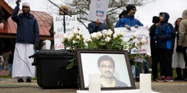 A photo of Srinivas Kuchibhotla, the 32-year-old Indian engineer killed at a bar in Olathe, Kansas, is...