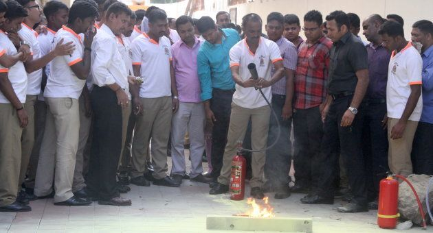Fire safety training in