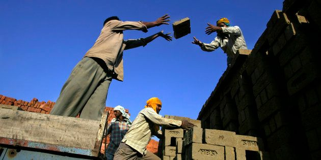 A brick factory in Guruwali village on the outskirts of