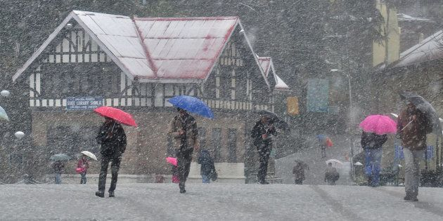 Heavy Snowfall In Shimla Disrupts Power And Water Supply, Cripples