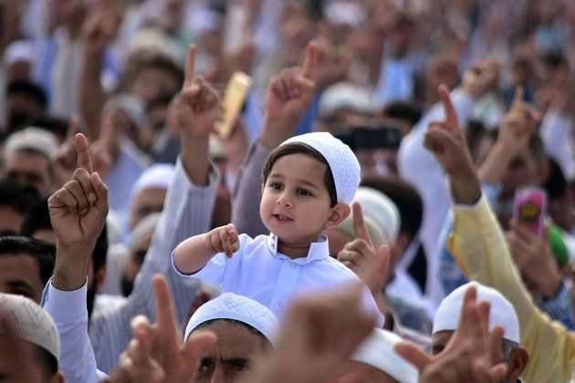 A child in Srinagar on