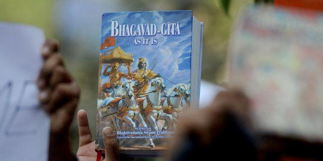 Bill For Compulsory Teaching Of Bhagavad Gita Introduced In Lok