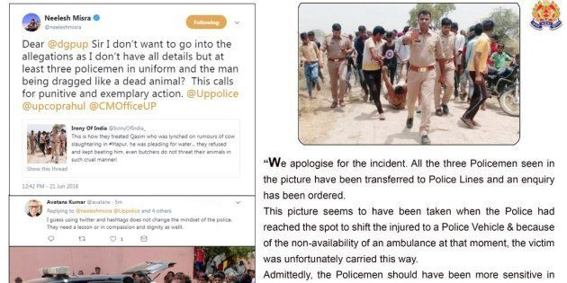Hapur Lynching: UP Police Forced To Apologise After Photo Of Villagers Dragging Victim's Body In Presence...