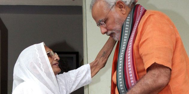 File photo of PM Modi with mother