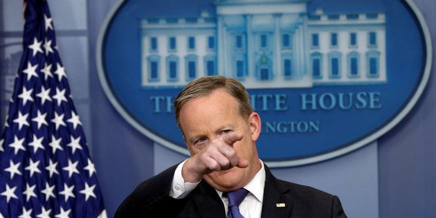White House spokesman Sean Spicer holds a briefing at the White House in Washington, U.S., March 13,...