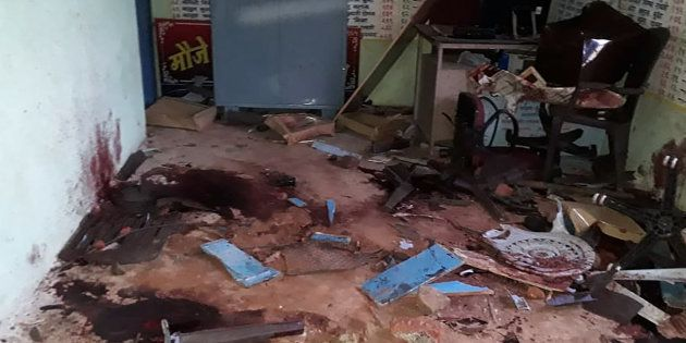 The room where five men were murdered in a lynching incident in Maharashtra's Dhule