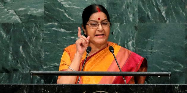 File photo of India's Minister of External Affairs Sushma