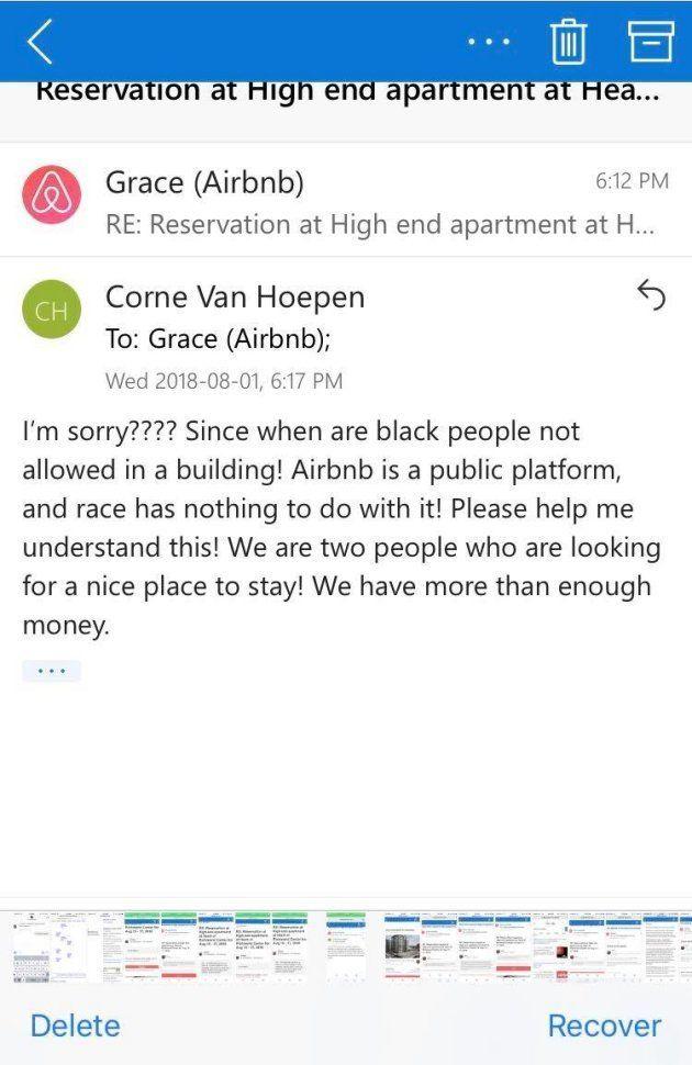 Van Hoepen's response to