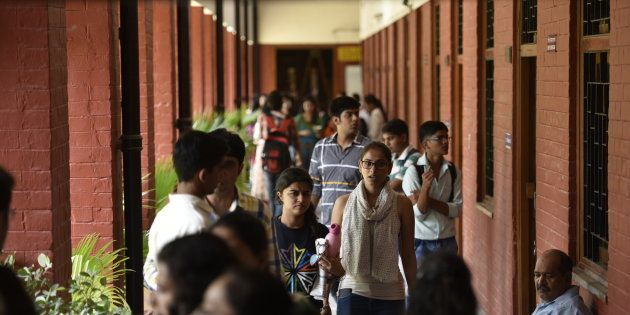 File photo of students at the Delhi University College in the North