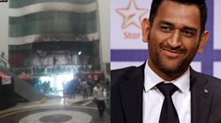 Dhoni And The Jharkhand Cricket Team Unhurt After Fire Broke Out In Their Delhi