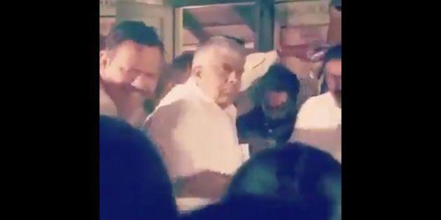 WATCH: Karnataka Minister HD Revanna Throws Biscuits At Kodagu Flood