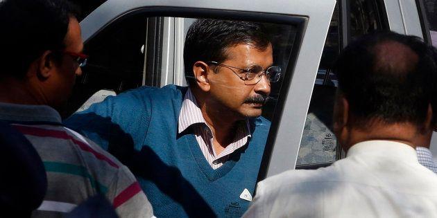 120 BJP Councillors Arrested Outside Arvind Kejriwal's