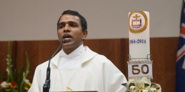 File photo of Rev Tomy Kalathoor Mathew, 48, who was stabbed on Sunday, 19 March, 2017, in a church in