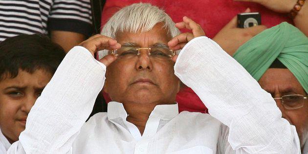 India's Rashtriya Janata Dal (RJD) chief Lalu Prasad Yadav in a file