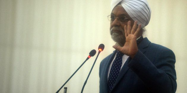 Then CJI-designate Justice JS Khehar at the farewell ceremony of the outgoing Chief Justice of India...