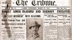 This Is What The Front Page Of The Tribune Newspaper Looked Like After Bhagat Singh's