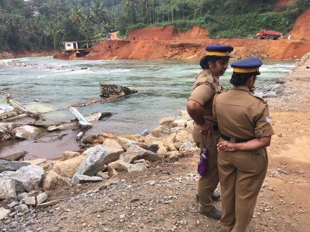 Chunks of buildings lie in the Periyar river, swept away by the force of floodwaters when all five shutters...