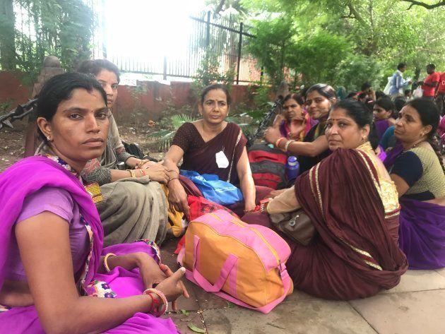 ASHA workers from Madhya Pradesh at Jantar Mantar,