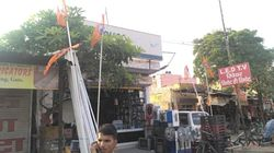 Why '5,000' Hindu Residents Of A Gurgaon Locality Have Hoisted Saffron Flags At Their