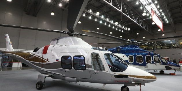 A file photo of AgustaWestland helicopters for representative purposes